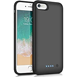Feob Coque Batterie pour iPhone 6/6S/7/8 Coque Rechargeable [6000 mAh] Batterie Externe Chargeur Portable Puissant Power Bank Coques d'alimentation pour iPhone 6/6s/7/8 (4.7 Pouces) [Garantie 2 Ans]