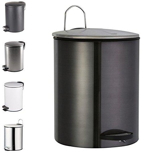 WOLTU ME4715szM3 Poubelle à pédale trashcan seau déchets à domicile cuisine salle de bain 3L,Noir