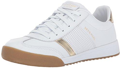 Skechers Damen Zinger-Flicker Sneaker, Weiß (White/Gold), 38 EU