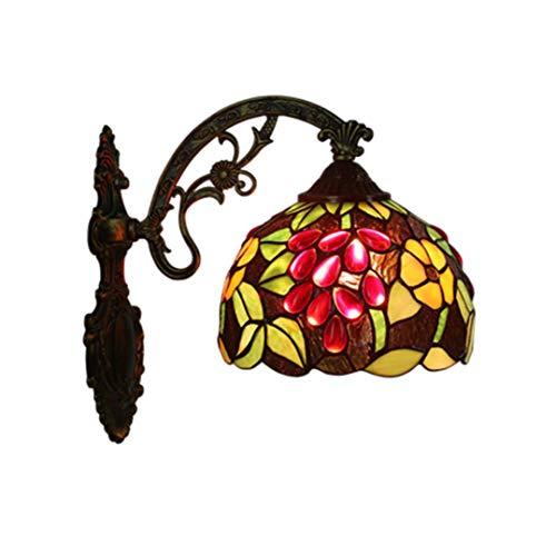 Tiffany Wandleuchte/Handwerk / Legierung Basis Farbmuster/Glas Edelstein Dekorative Wandleuchte / 8 Zoll Lampe E27, Korridor Indoor Wohnzimmer Veranda
