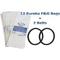 12bolsas para Eureka estilo F y G vacío limpiador F G Sanitaire Commercial + 2cinturones