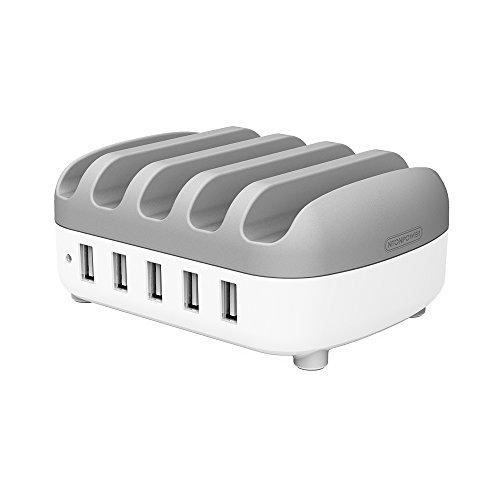 Multiport Usb (Multiport USB Ladestation mit 5 USB-Anschlüssen(40W 5V/8A)Universel Ladegerät für Smartphones & Tablets,IPhone und Andere mit USB Geräte-Weiß/Grau)