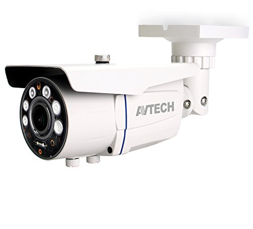 AVTECH AVT452 Telecamera HD-TVI 2 Megapixel Full HD con obiettivo Varifocal 2,8-12mm modello TOP DI (Sicurezza e sistemi di sorveglianza)