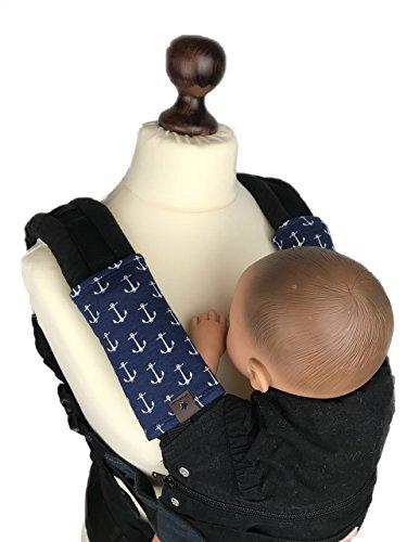 Universal Gurtschoner für viele Babytragen Anker marine