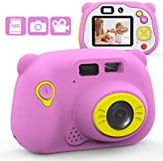 Kids Digital camera, 12MP Kids Camera for Girls with 2.4 Inch Large Screen 1080P Pink Kids Video Camera Best B