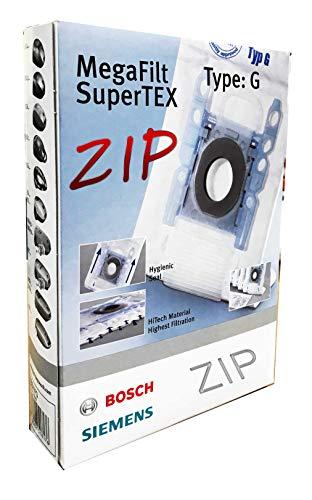 Bosch Mega Filt Super TEX Type: G Original Staubsaugerbeutel 4 L - mit Reißverschluss ! Wiederverwendbar* (1 Stück)