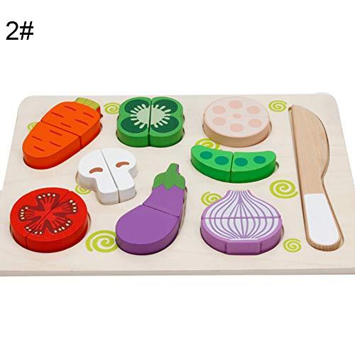 (heDIANz Magnetic Wooden Fruit Gemüse Lebensmittel Schneiden Pretend Play Pädagogisches Spielzeug)