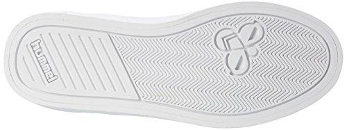 Hummel Deuce Court Velcro, Sneakers Basses Mixte Adulte Blanc (White)