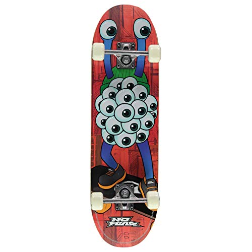 No Fear Kids Skateboard Blue Eyes One Size