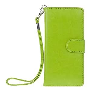 kwmobile Wallet Case Hülle für Samsung Galaxy S2 S2 PLUS - Cover Flip Tasche mit Kartenfach in Grün