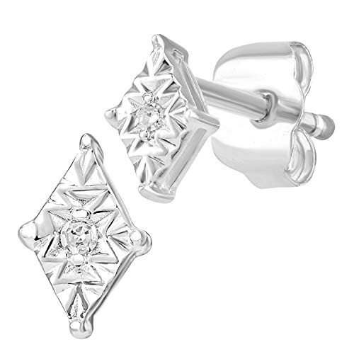 Naava Women White Diamond Stud Earrings PE05768W