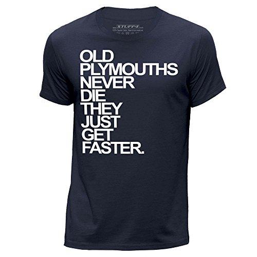 stuff4-uomo-x-grande-xl-blu-navy-girocollo-t-shirt-old-plymouths-plymouth-never-die