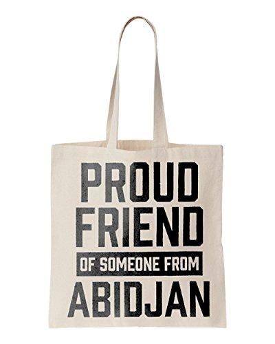 Proud friend of someone from Abidjan printed Tote bag