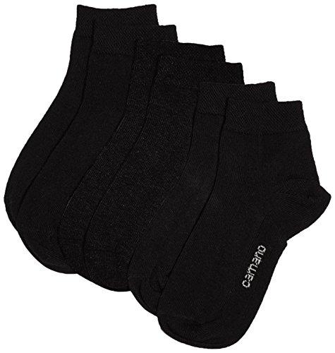Mädchen Socken Set (Camano Mädchen Füßlinge 3723, 3er Pack, Gr. 31-34, Schwarz (black 5))
