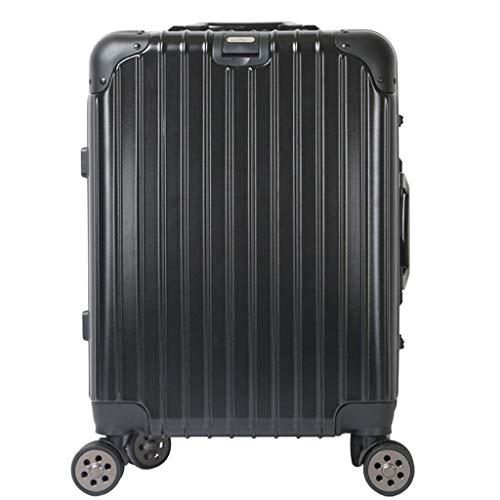 Trolley Doppelkoffer Koffer Geschäftsreisen Mode 20 Zoll Einstiegskoffer (Farbe : Schwarz, größe : 20 inches)