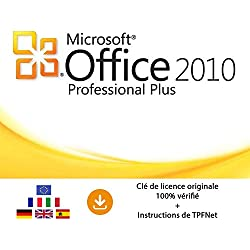 MS Office 2010 Professionnel 32 Bits & 64 Bits - Clé de Licence Originale par Postale et E-Mail + Instructions de TPFNet® - Livraison Maximum 60min