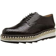 Castañer Camelia-Exotic Leather - Zapatos para Mujer, Color Dark Brown, Talla 37