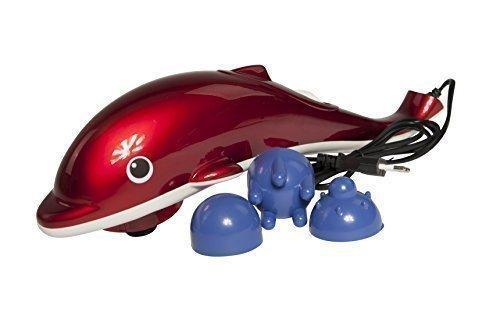 Massage Delfin - Massagegerät mit Infrarotfunktion, rot