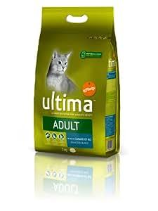 Ultima Chat Adult Canard et Riz 3 kg Croquettes