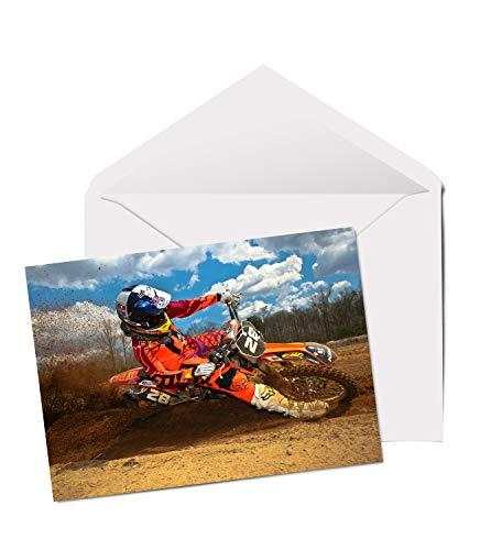 Geburtstagskarte für Teenager/Jungen #8087, Motiv Motorcross Motorrad