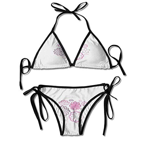 Soft Bikini Two Pieces Sets,of Chrysanthemum Dahlias and Sexy Bikini 2 Pieces