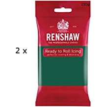 Renshaw - Professionelle Zuckerpaste - 2 x 250g - Packung mit 2 - Kuchendekoration Fondant (Emerald Green (Grün))