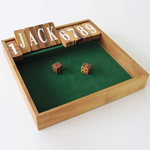 FERME LA BOITE edizione JACKPOT gioco da bar / pub giochi di società legno massiccio Più di 2 giocatori partire da 6 anni gioco con dadi