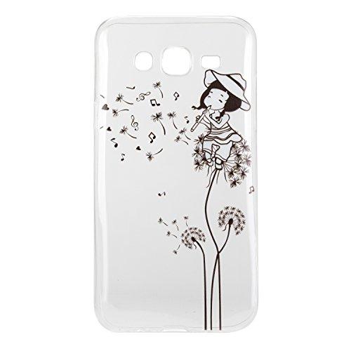 Coque Bumper pour Samsung Galaxy J5 2016,Galaxy J5 2016 Soft Silicone Tpu Coque Mode,Samsung Galaxy J5 Flexible Souple Case,Ekakashop Mignonne Design Transparente Crystal Clair Souple Gel Housse Coque Pissenlit Fille