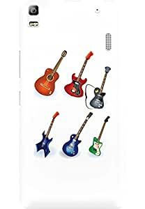 AMEZ designer printed 3d premium high quality back case cover for Lenovo A7000 Turbo (Guitar Designs)