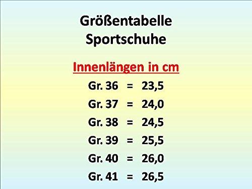 GIBRA® Sportschuhe, sehr leicht und bequem, schwarz/neonorange, Gr. 36-41 Schwarz/Neonorange