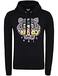 5c4f92a8 Kenzo Men's Black Fleece with Multicolor Tiger