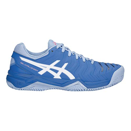 ASICS Damen Gel-Challenger 11 Clay Tennisschuhe, Blau (Electric Blue/White 400), 40.5 - Tennisschuhe Damen Allcourt