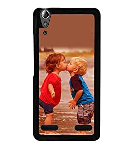 printtech Baby Kiss Love Back Case Cover for Lenovo A6000