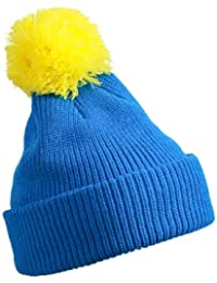 MB Knitted Hat with Pompom in 8 Great Colours - Warm Double Knit Cap