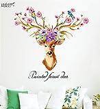 3D Wandtattoo Wandtattoo Schlafzimmer Wandstickerelch Blume Wandmalerei Wandtapete Selbstklebende Dekoration Schlafsaal
