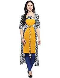 Jashvi Creation Women's Stitched Printed Kurti