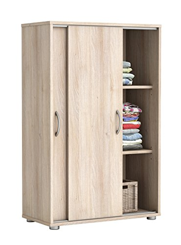 w scheschrank mit 2 schiebet ren schrank schiebet rschrank akazie highboard smash. Black Bedroom Furniture Sets. Home Design Ideas
