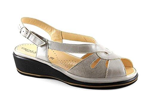 GRUNLAND ELOI SA1257 beige sandali donna comfort cinturino zeppa Beige