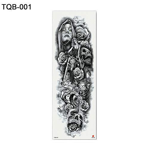 a6322c5e1 ... Tattoo Sticker. rycnet 1 Foglio Tatuaggi temporanei Nun Girl Pray  Design Full Body Art Braccio Fiore Tqb-