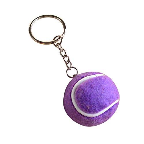 Ruikey Llavero Creative Tennis Purse Bag Car Key Chain Decoración Colgante (Púrpura)