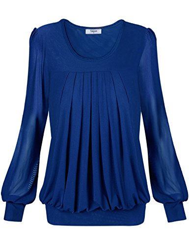 Flat Front Stretch-leggings (Timeson Damen Lamarmshirt Gr. xxxl, #17 Blue)