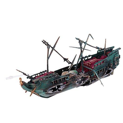 perfk Aquarium Schiffswrack Deko - Farbe 1