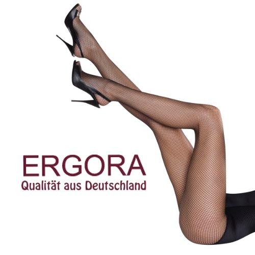 Ergora Netzstrumpfhose Microtouch Schwarz Gr. 38/40 - 44/46 in 4 Größen Feinstrumpfhose -