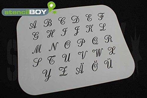 Buchstabenschablone Font RA