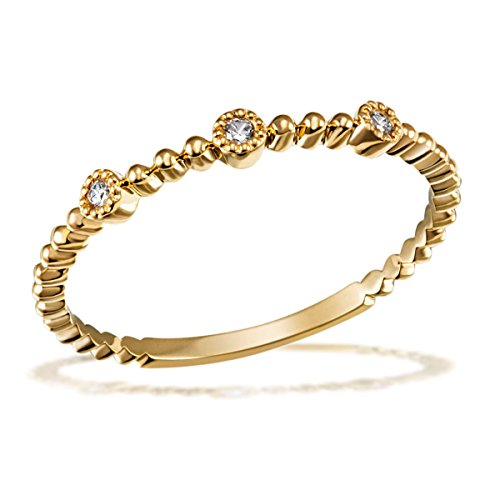 Goldmaid Damenring 585 Gelbgold 3 Brillanten 0,04 ct.