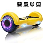 "Jolege Hoverboard 6.5"" Two Wheel Smart Self Balancing Electric Scooter with Buletooth LED Wheel Light for Kids Adults - UL2272 Certified, Includes Free Portable Bag and Charger"