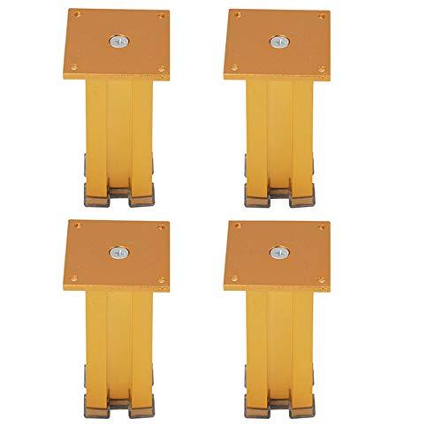 Furniture legs WYZQQ MöBelfüßE 4 SäTze Von Dicken Vierkantrohr Wand Metall Sofa Tisch Beine Beine Bett SchräNke Breit 51 * 51mm Gold Gewicht 200kg - Gold-metall-bett-satz