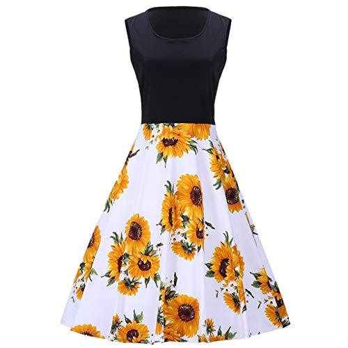 ODRD Clearance Sale [S-4XL] Weihnachten Damen Kleider Kleid MäDchen Sleeveless Print Übergröße...