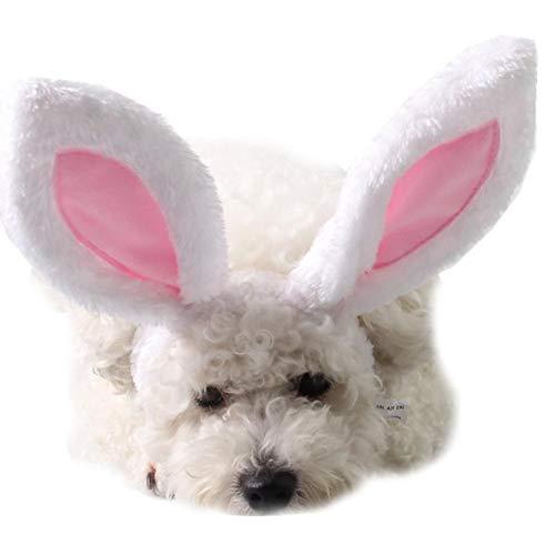 Haustier Weihnachtskostüm Hasenohren Accessoires Kopfschmuck Kostüm Hasenhut Halloween Hasenohren Mit Ohren Für Katzen Kleine Hunde Partykostüm Zubehör Kopfbedeckung