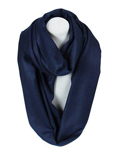 Massi Morino Schlauchschal aus Kaschmir, Unisex Loop-Schal für Damen und Herren (Dunkelblau)